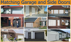 matching garage doors and side entrance doors